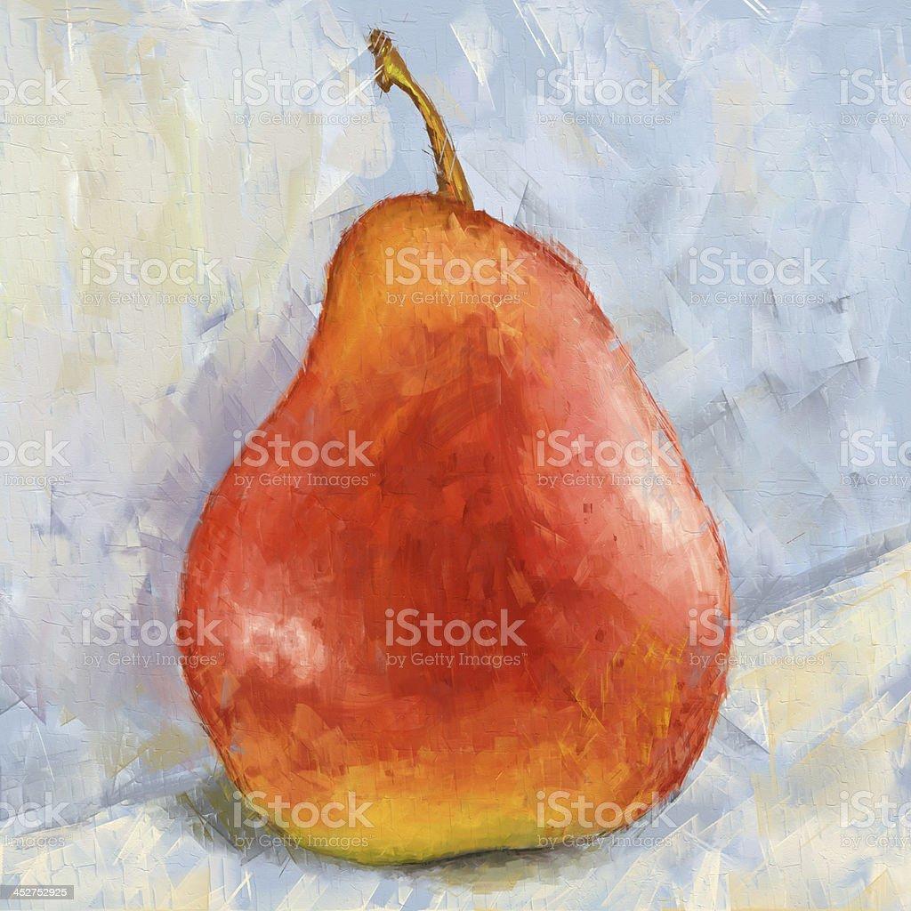 Juicy pear painting royalty-free stock vector art