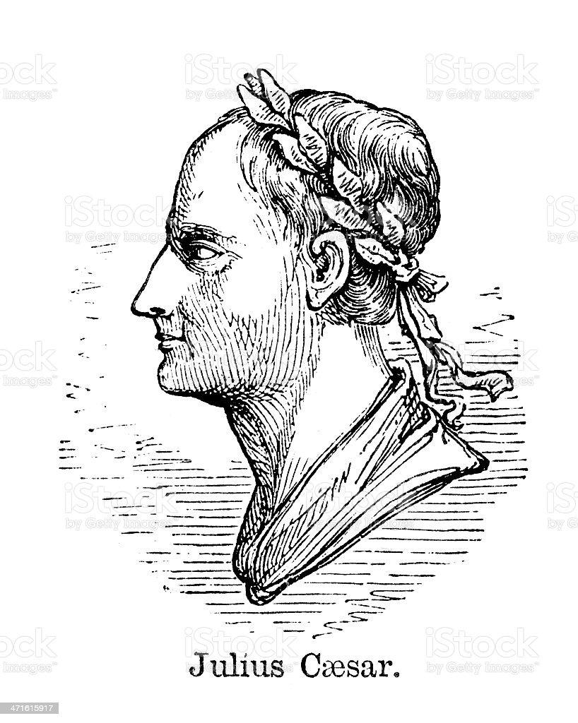 Julius Caesar royalty-free stock vector art