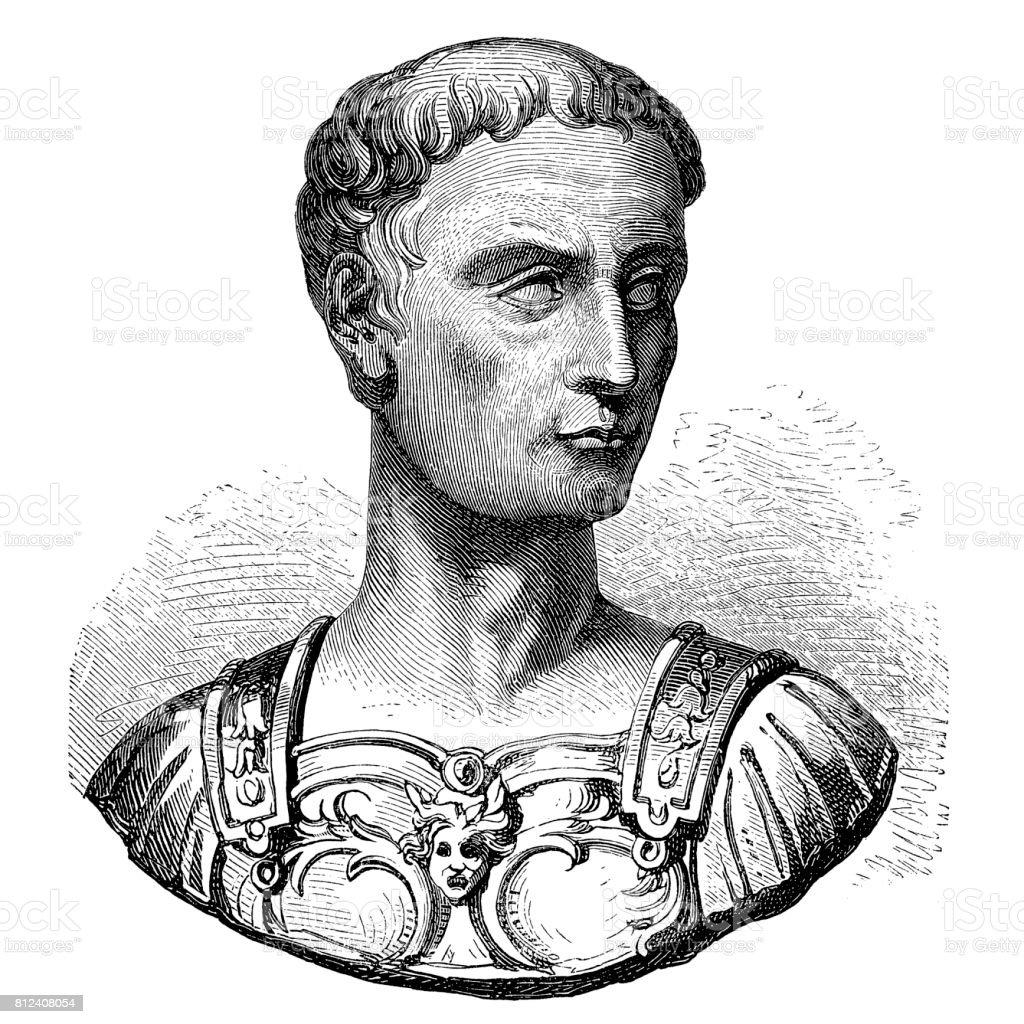 Julius Caesar vector art illustration
