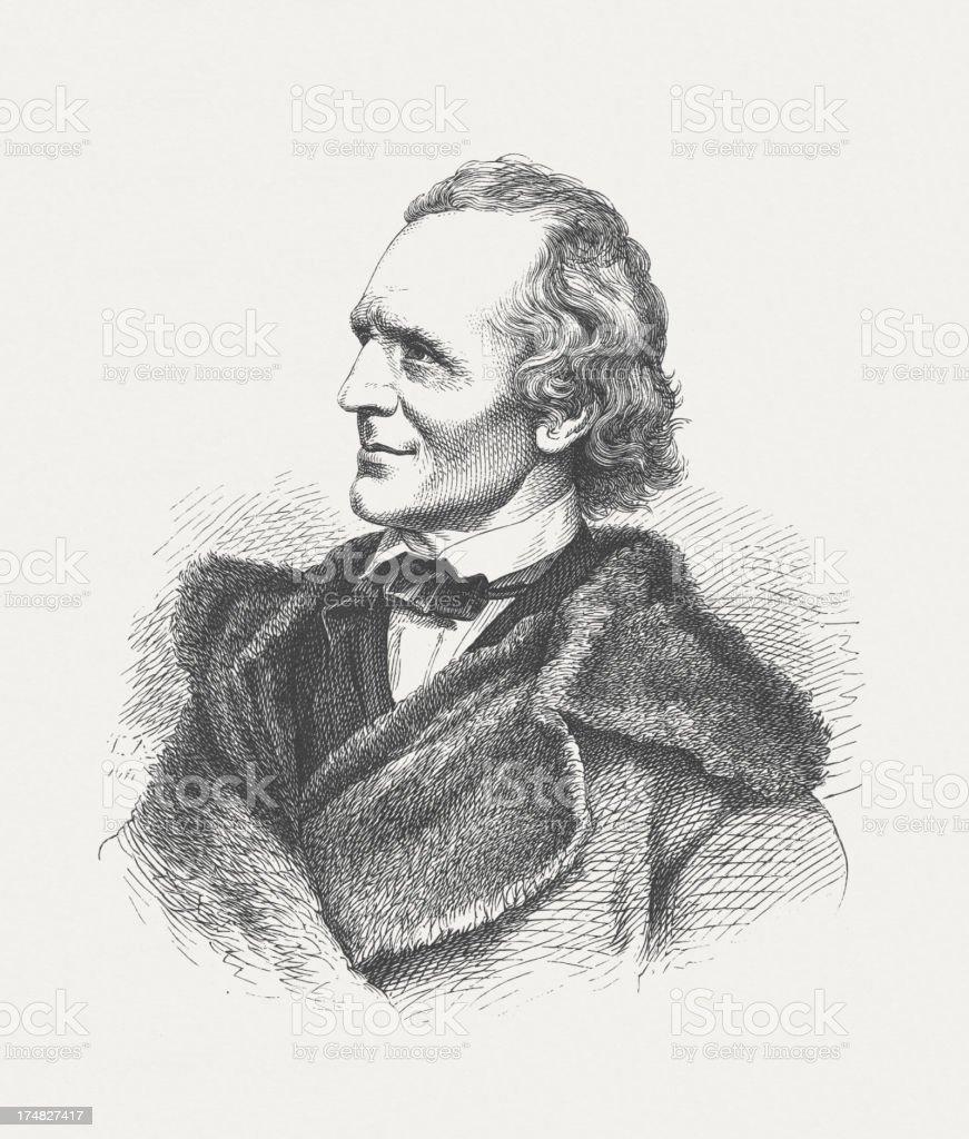 Julius Schnorr von Carolsfeld (1794-1872), German painter, publisched in 1882 royalty-free stock vector art
