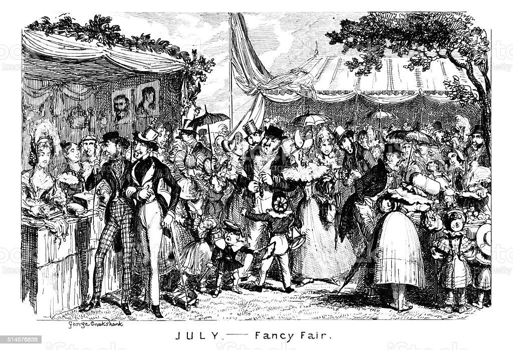 July - Fancy Fair vector art illustration
