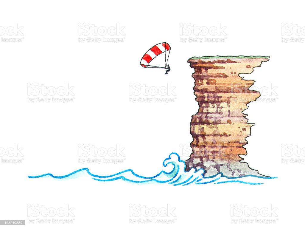 BASE jumping royalty-free stock vector art