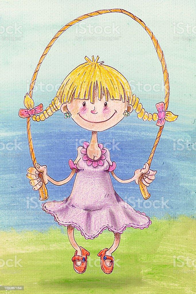 Jumping rope royalty-free stock vector art