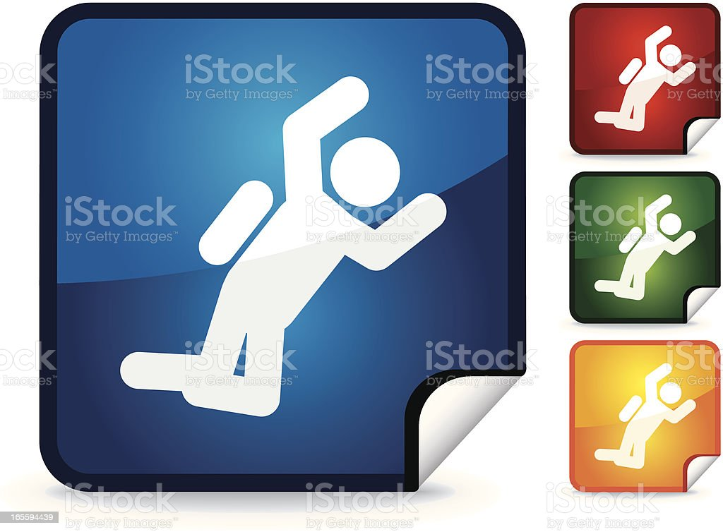BASE Jumping | Sticker Collection royalty-free stock vector art