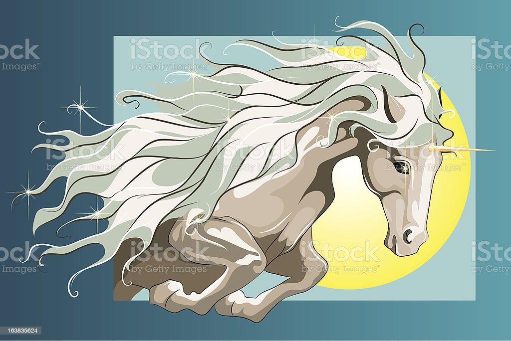 Jumping Unicorn royalty-free stock vector art