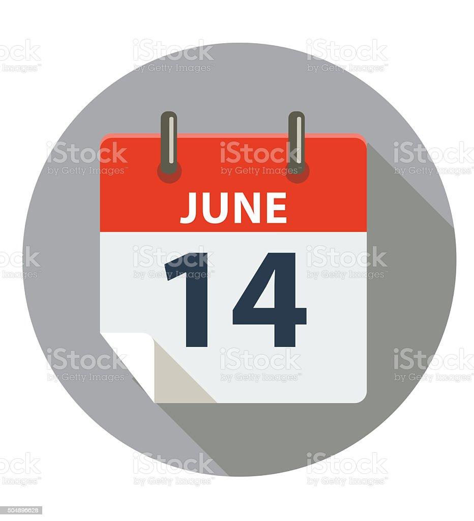 June 14 - Flag Day vector art illustration