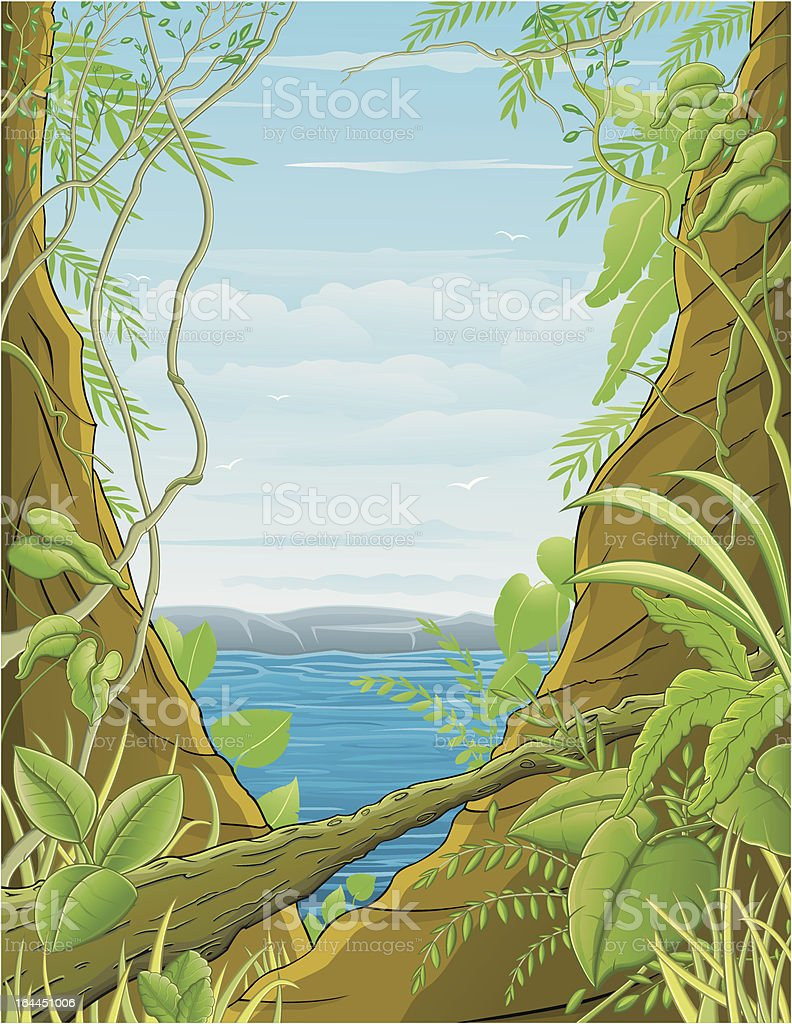 Jungle / Forêt tropical vector art illustration