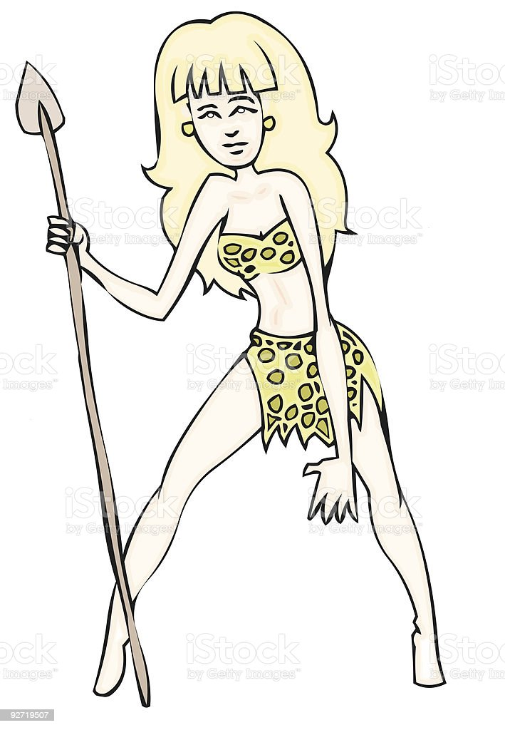 Jungle Woman royalty-free stock vector art