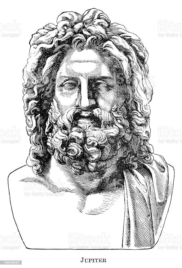 Jupiter vector art illustration