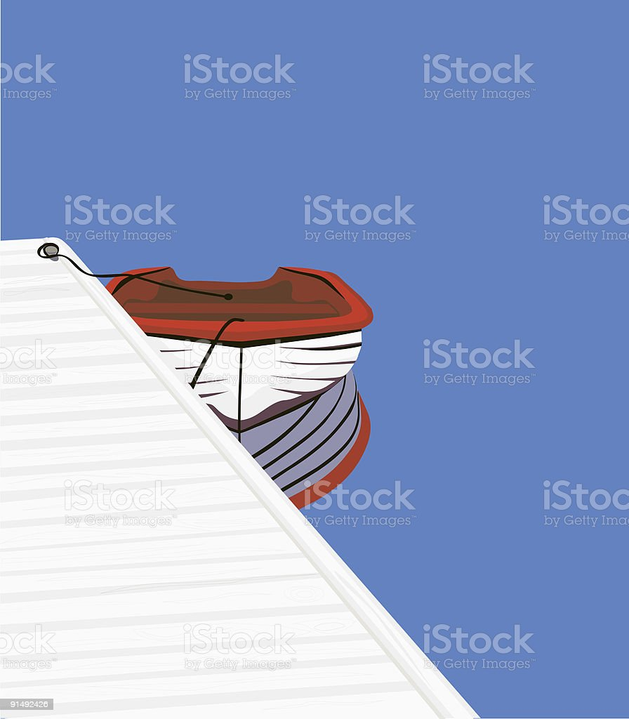 Just A Little Dinghy royalty-free stock vector art