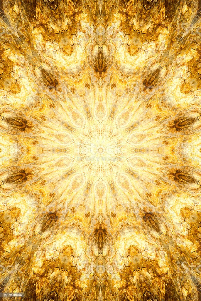 kaleidoscope with bright stone pattern vector art illustration