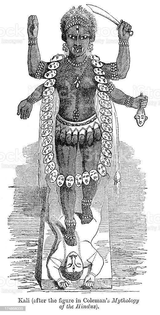 Kali - Goddess of Time, Change royalty-free stock vector art