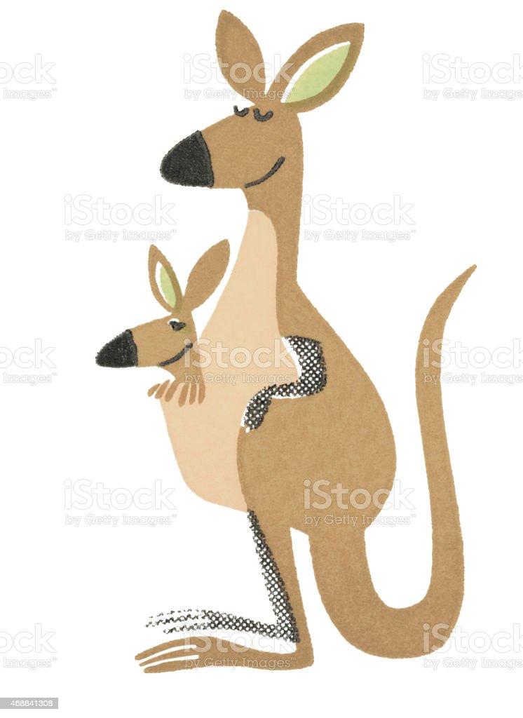 Kangaroo vector art illustration