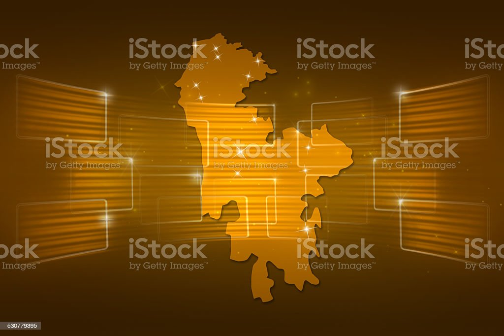 Karabakh Map World map News Communication gold yellow vector art illustration