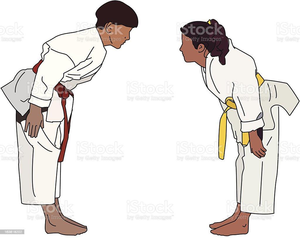 Karate Bow royalty-free stock vector art
