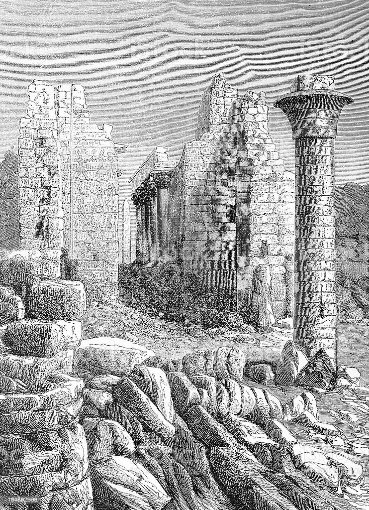 Karnac ruins royalty-free stock vector art