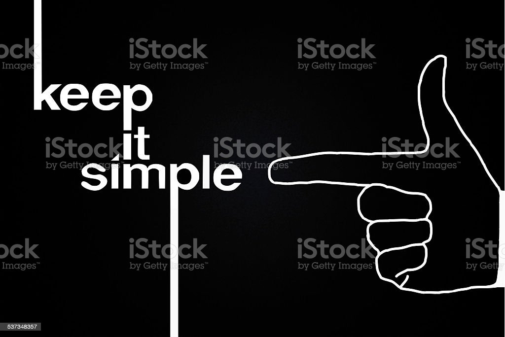 Keep it Simple text vector art illustration
