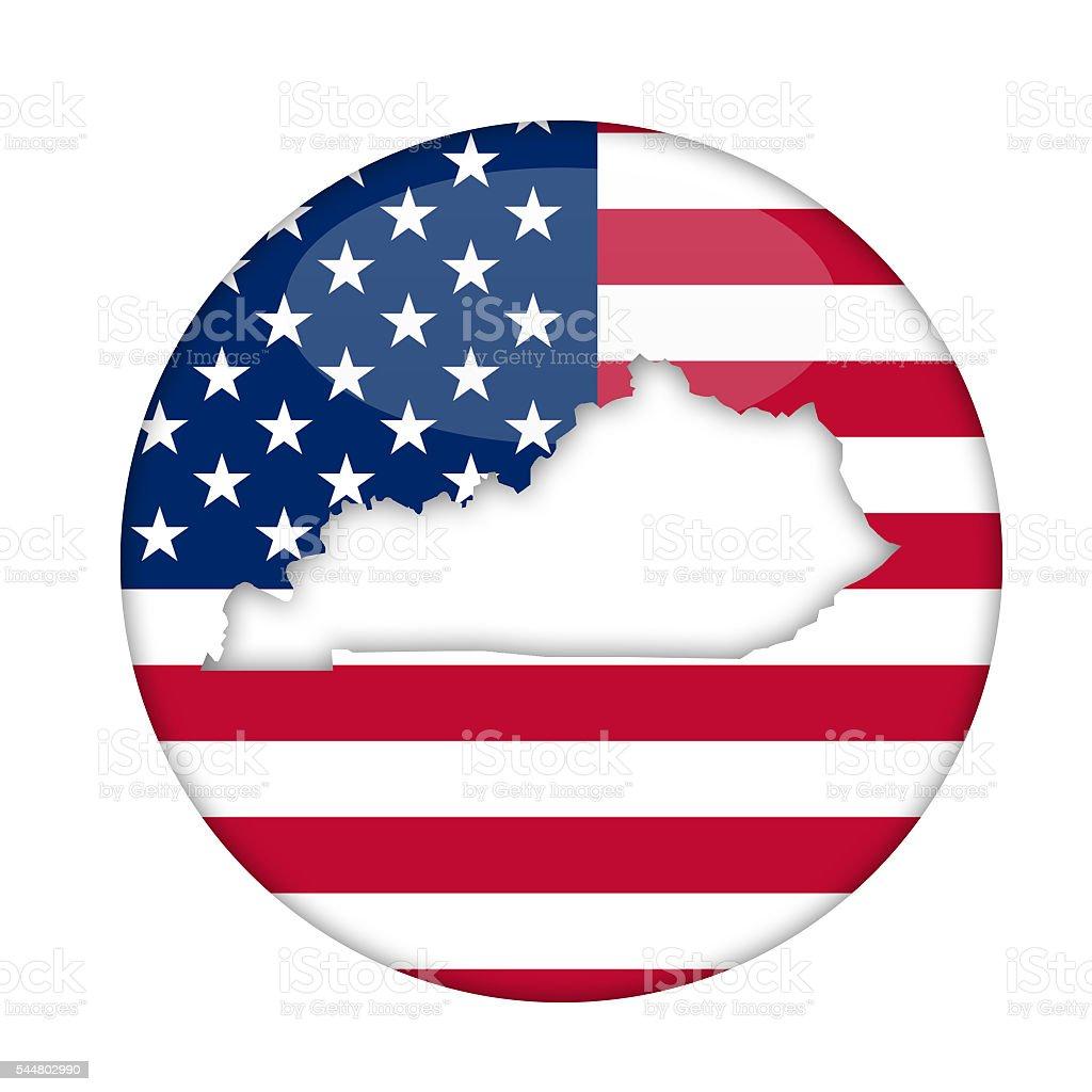 Kentucky state of America badge vector art illustration