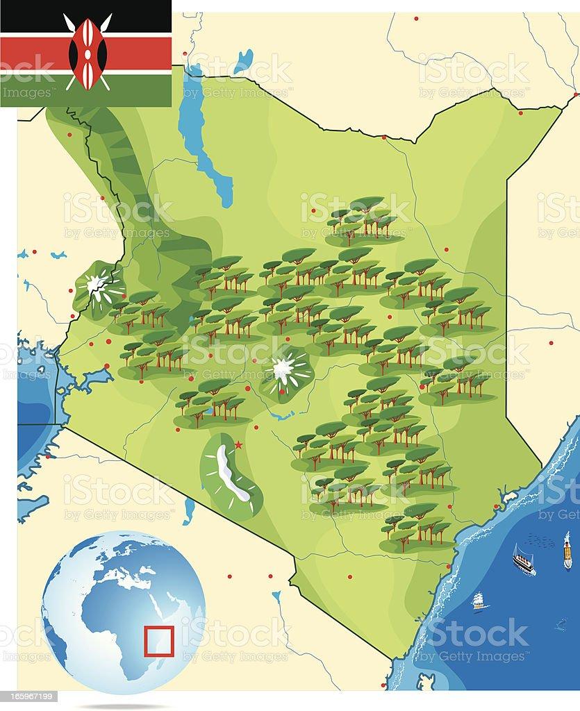 Kenya vector art illustration
