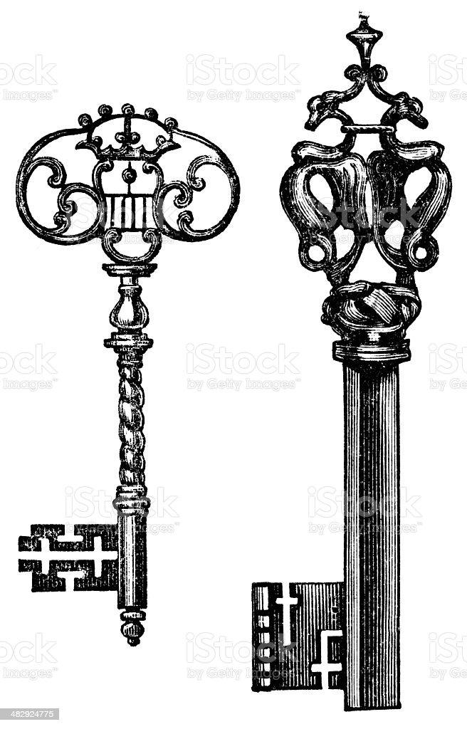 key vector art illustration