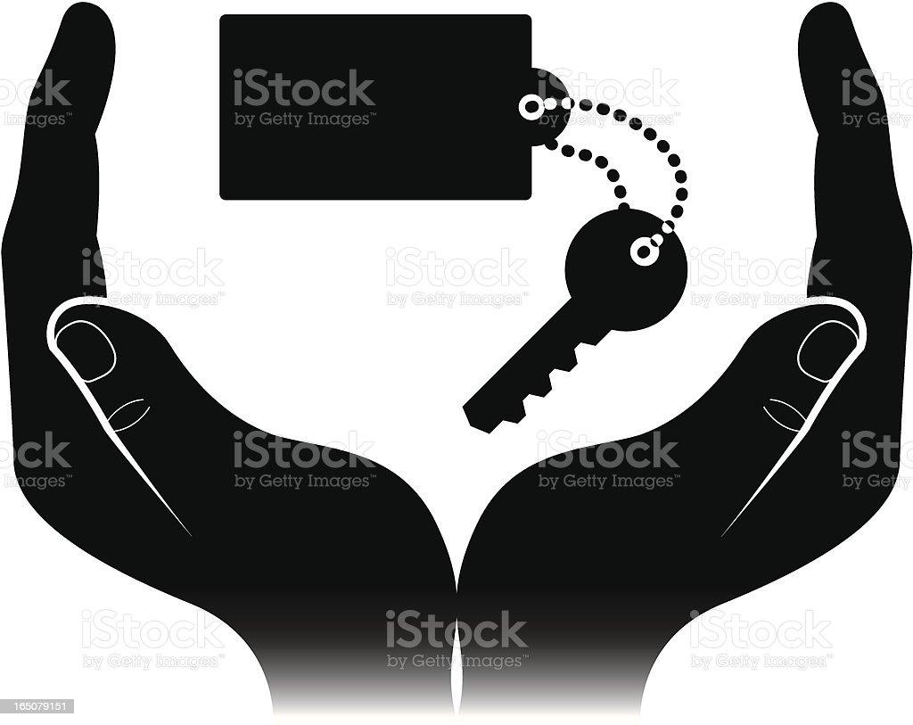 Key to the door royalty-free stock vector art