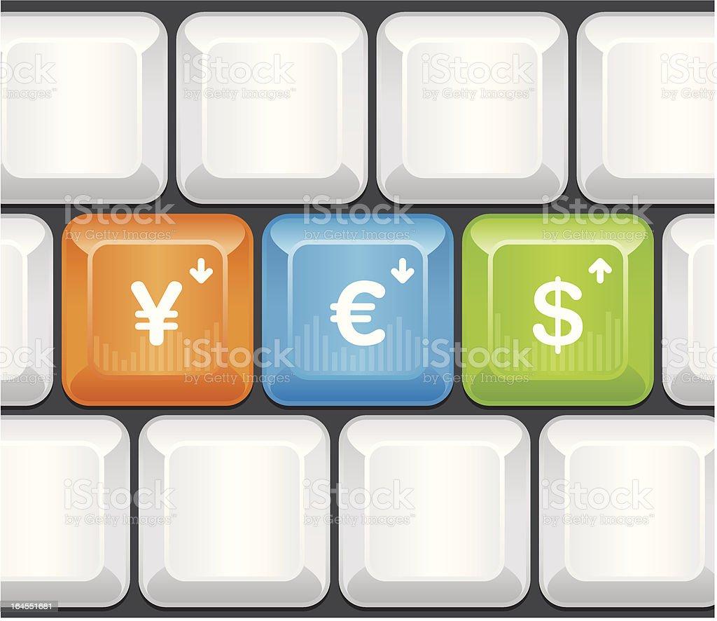 Keyboard - Currency exchange royalty-free stock vector art