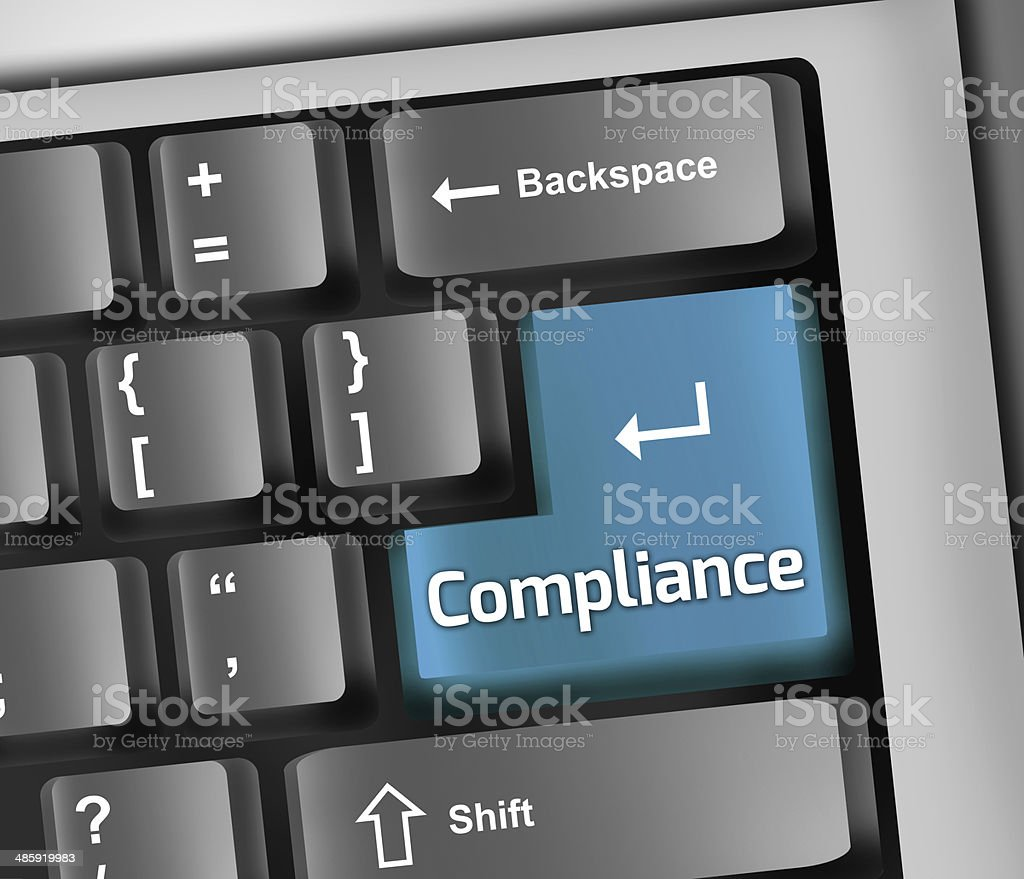 Keyboard Illustration Compliance vector art illustration