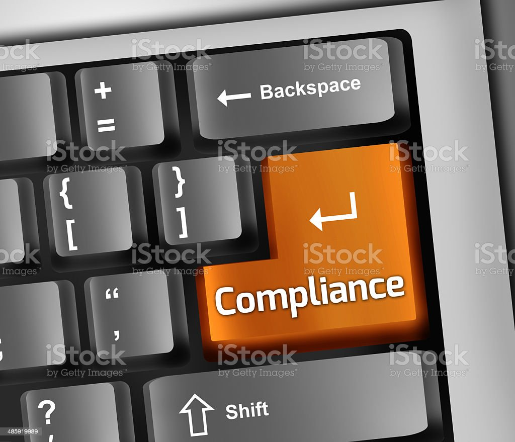 Keyboard Illustration Compliance vector art illustration