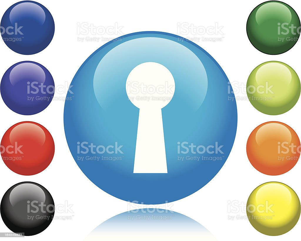 Keyhole Icon royalty-free stock vector art