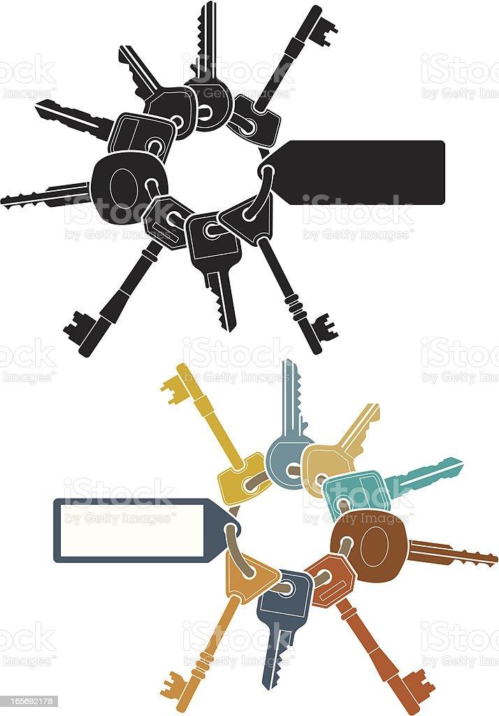 Keyring vector art illustration