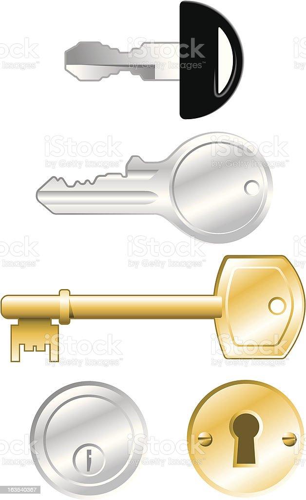 Keys vector art illustration
