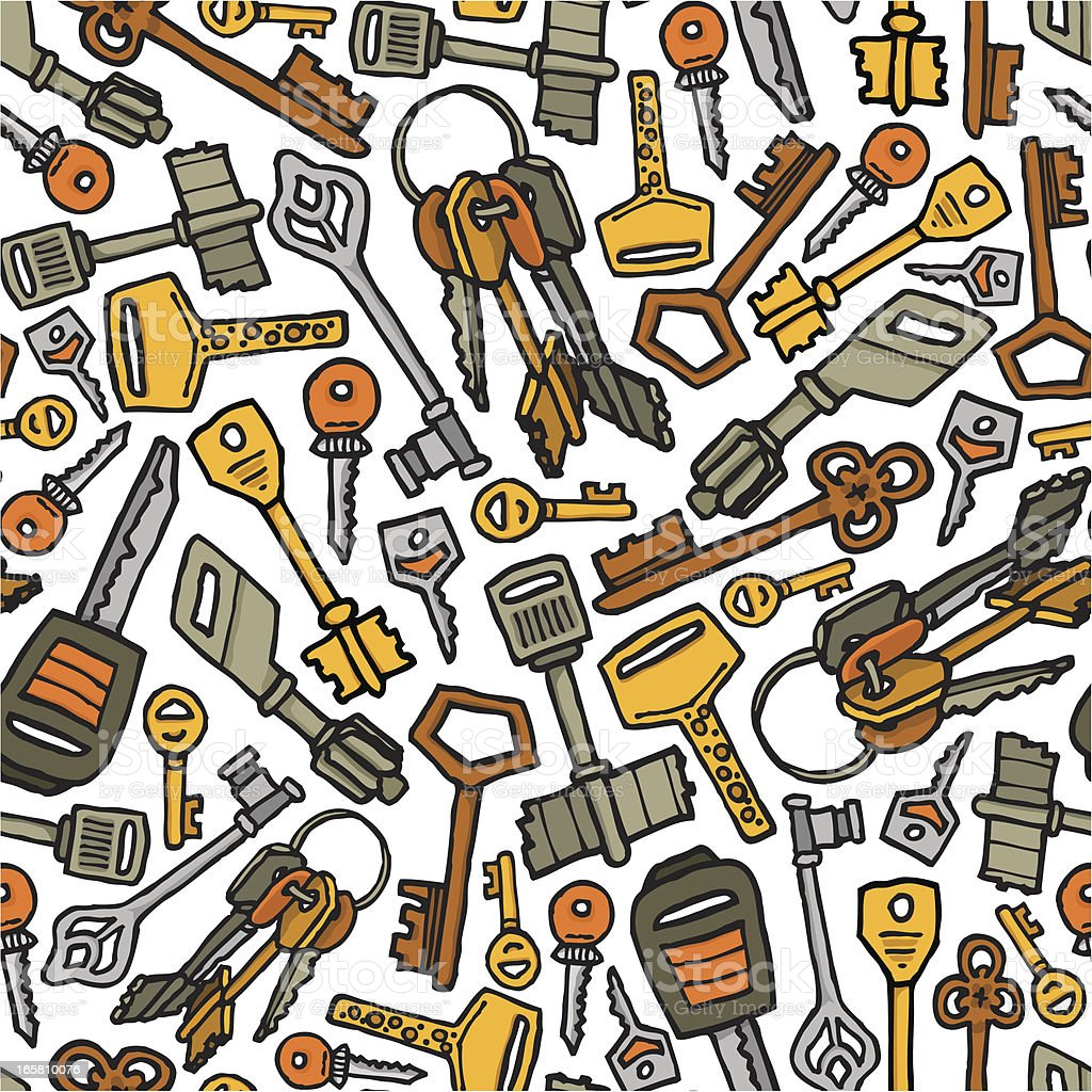 Keys vector seamless pattern royalty-free stock vector art