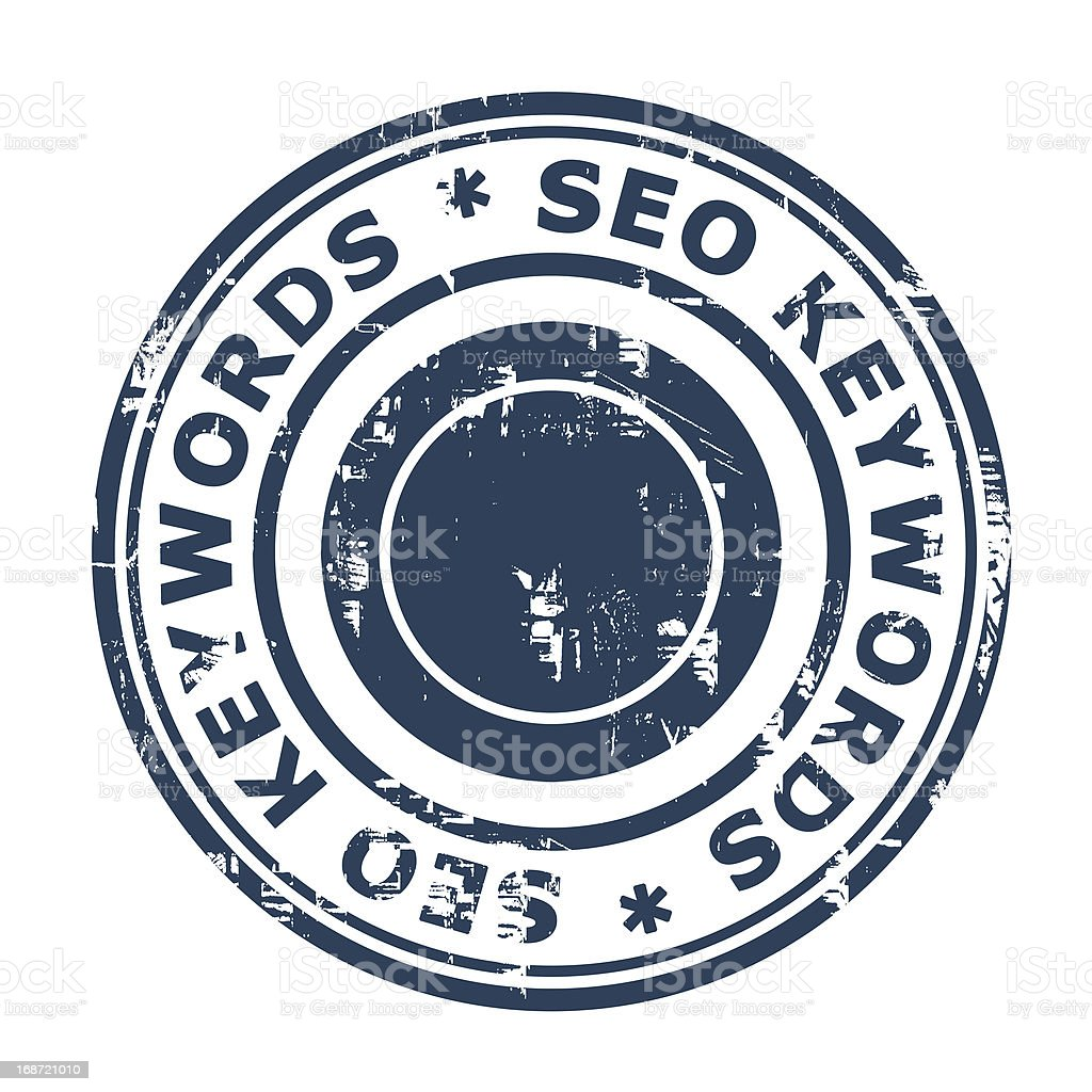 SEO keywords concept stamp royalty-free stock vector art