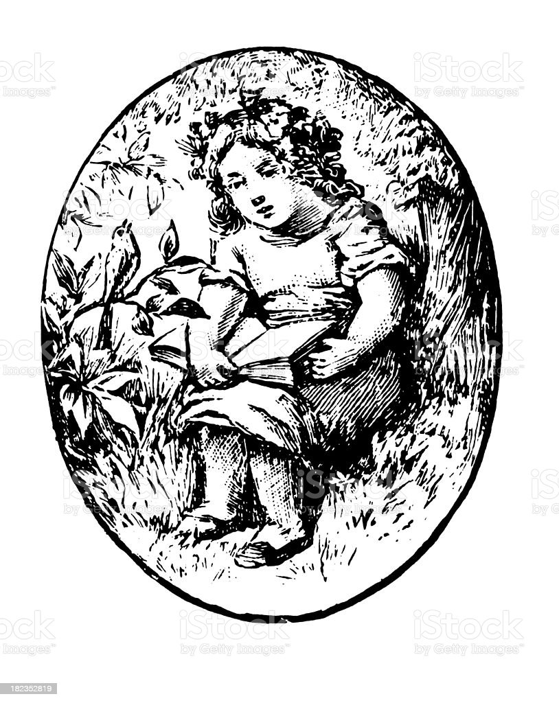 Kid | Antique Design Illustrations vector art illustration