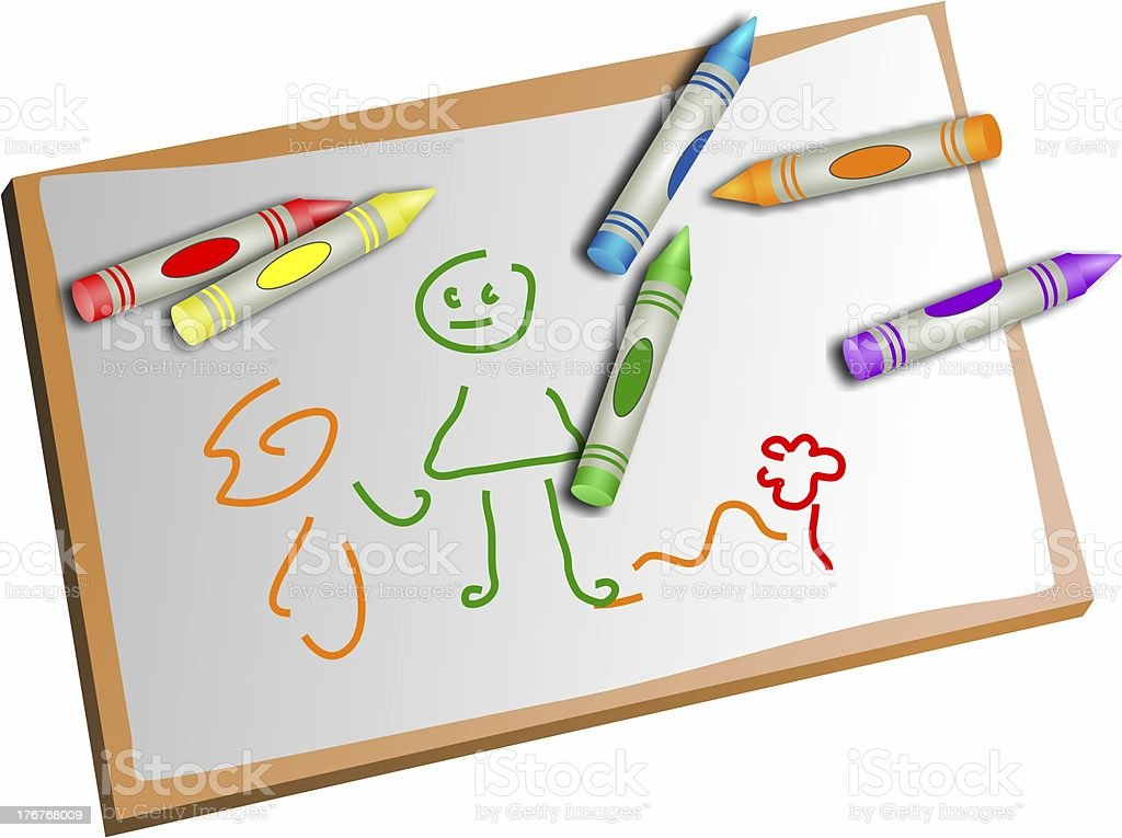 kids drawing royalty-free stock vector art