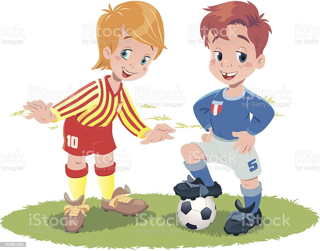 Kids Football royalty-free stock vector art