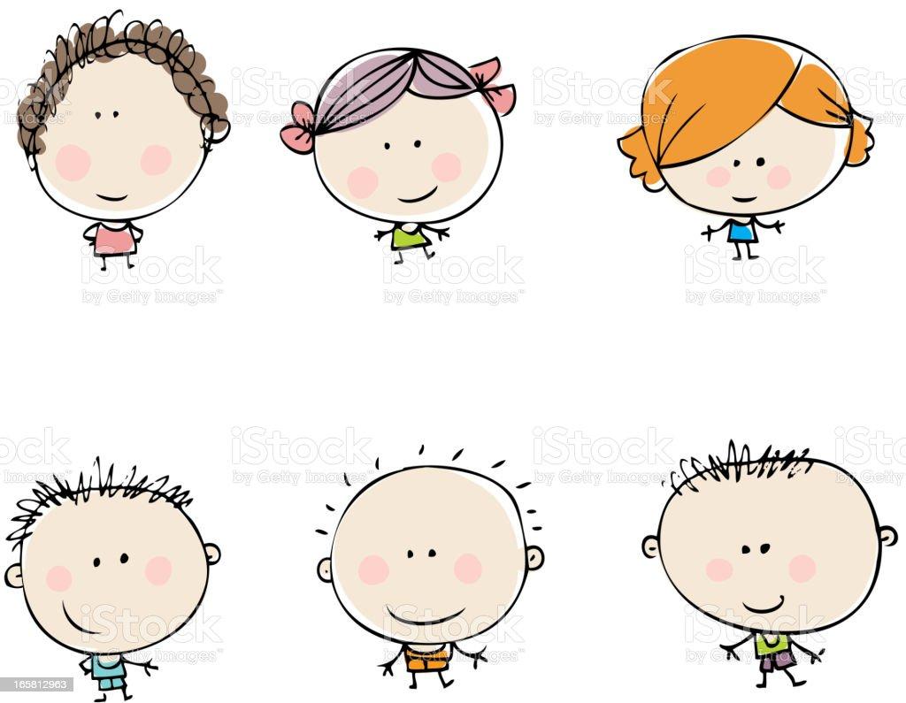 Kids vector art illustration
