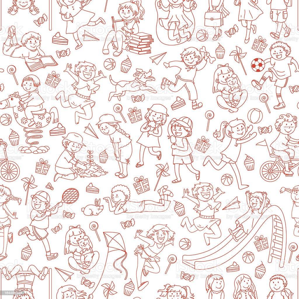 kids pattern royalty-free stock vector art