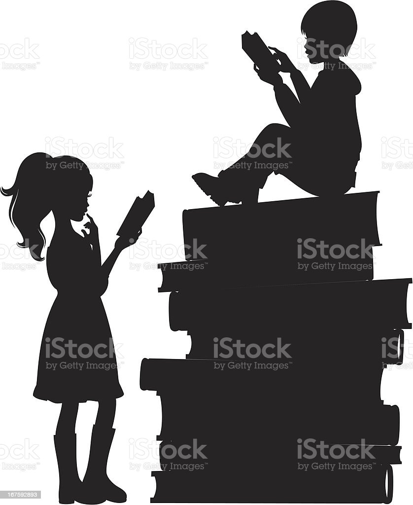 Children Reading Silhouette Images & Pictures - Becuo Children Reading Silhouette