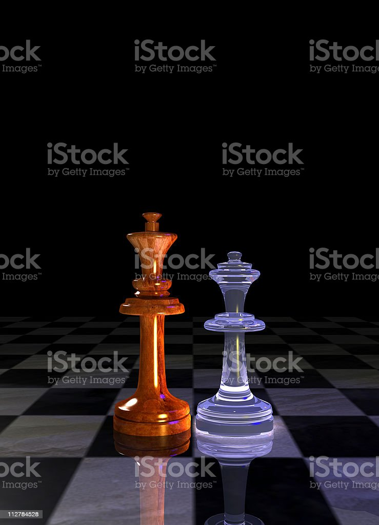 King and queen royalty-free stock vector art