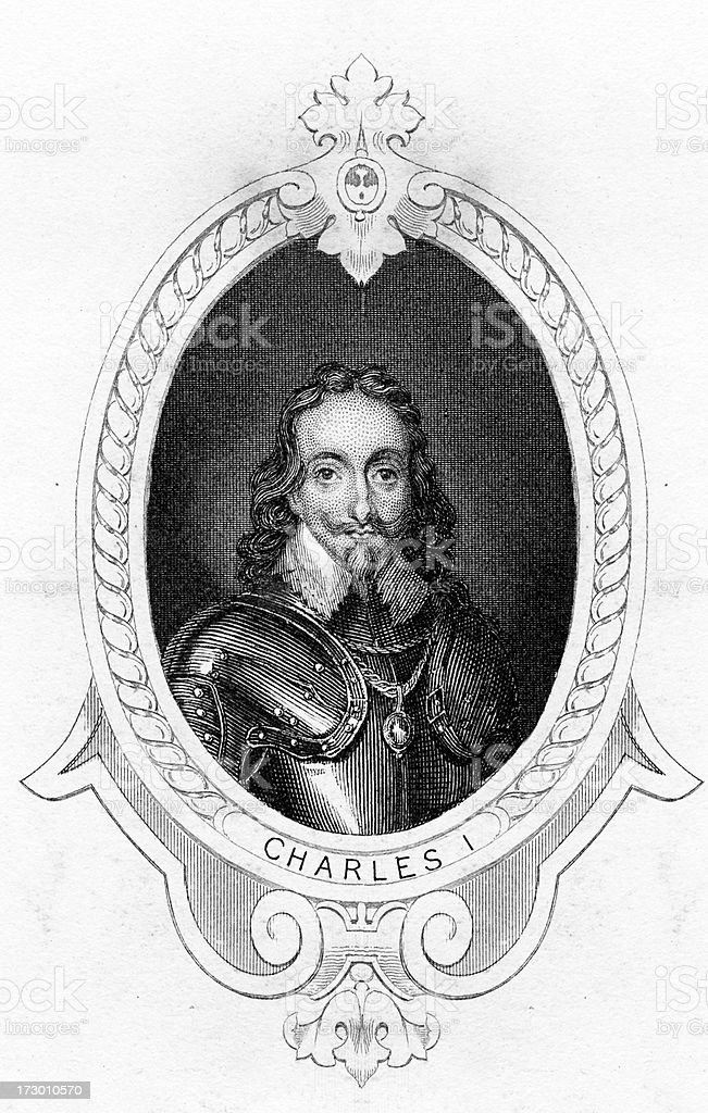 King Charles I of England royalty-free stock vector art