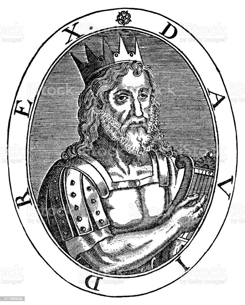 King David Of Israel vector art illustration