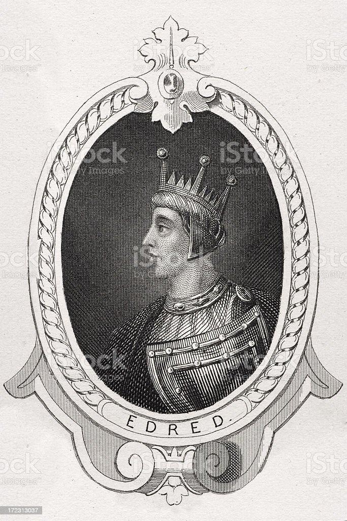 King Edred royalty-free stock vector art