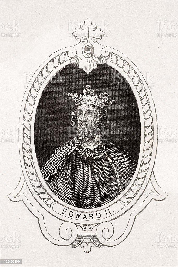 King Edward II royalty-free stock vector art