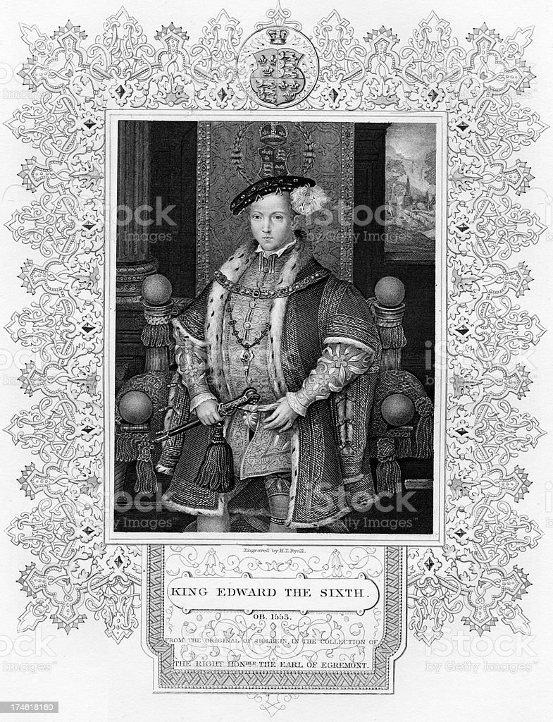 King Edward the Sixth royalty-free stock vector art