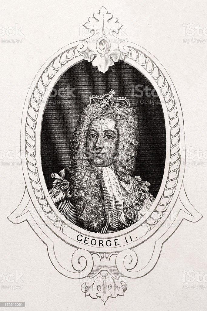 King George II royalty-free stock vector art