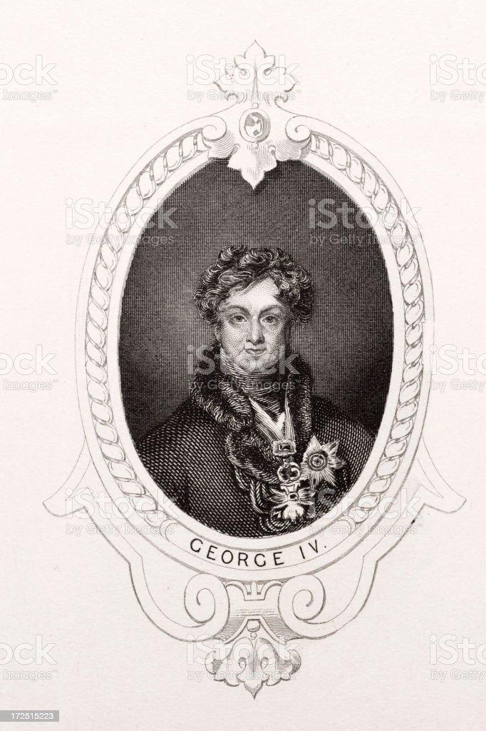 King George IV vector art illustration