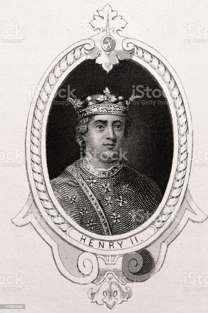 King Henry II royalty-free stock vector art