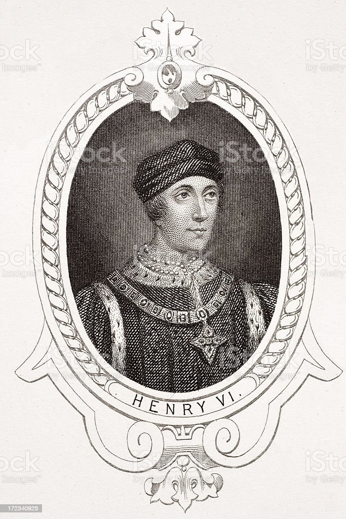 King Henry VI royalty-free stock vector art