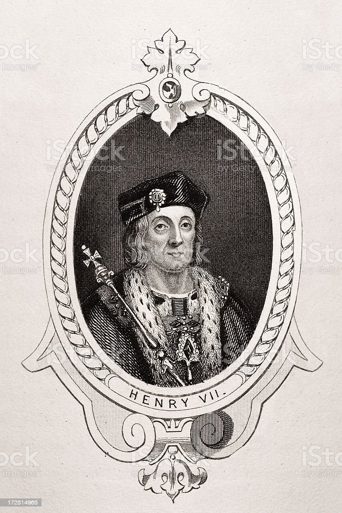 King Henry VII vector art illustration